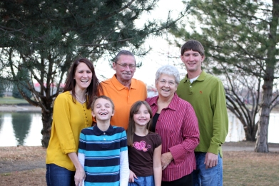 Nana and Papa with some of their grandkids!