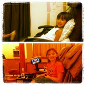 Then and Now- My fabulous goddaughter getting pedicures over the years.