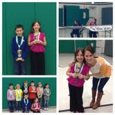 Photo collage of Amanda the 2nd Grade Spelling Bee Champ!