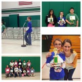 Photo Collage of Michael's 2nd Place Finish in the Intermediate Spelling Bee!